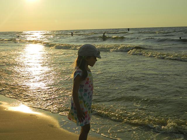 dziewczyna na plaży