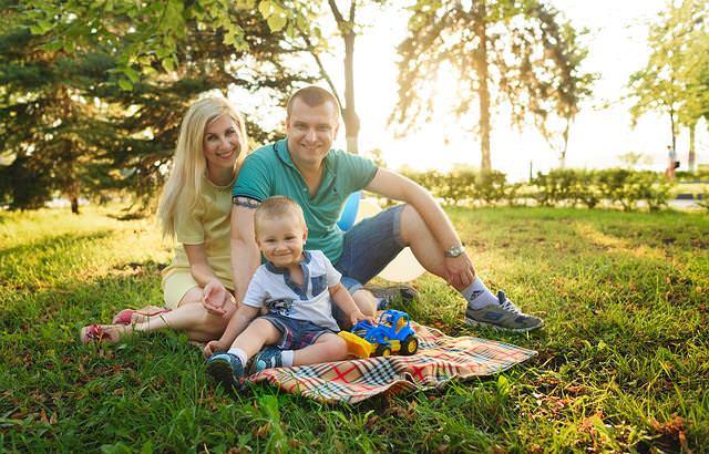 Rodzina na pikniku