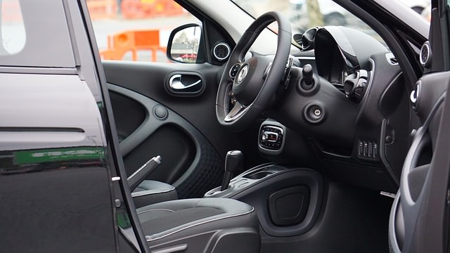 Widok na wnętrze auta