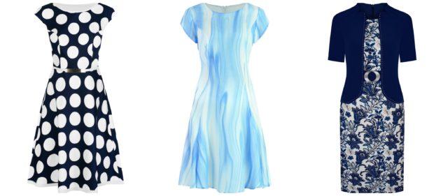 Sukienki do pracy w tonacji niebieskiej