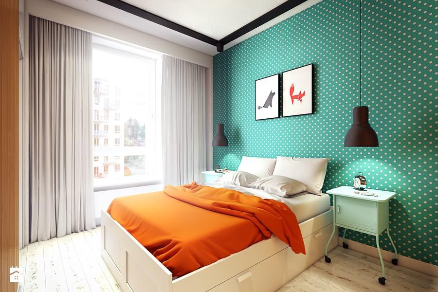 pomaranczowy w sypialni