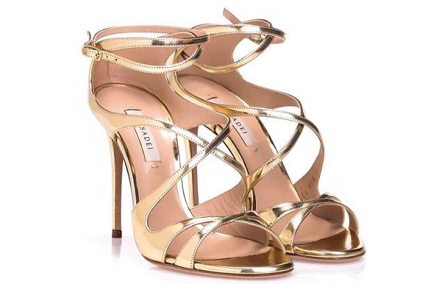 Markowe sandały na szpilce
