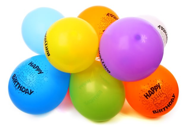 Urodzinowe, kolorowe baloniki