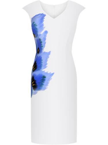 Biała sukienka wyszcuplająca