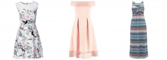 Sukienki  na lato w różnych fasonach