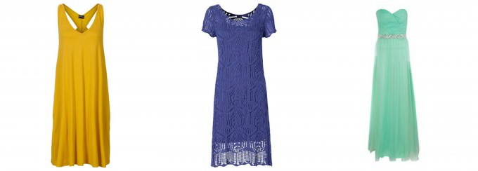 Sukienki letnie w różnych kolorach