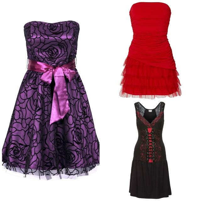 Zestawienie sukienek z gorsetem