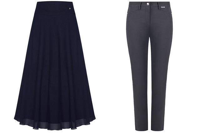 Zwiewna spódnica i spodnie