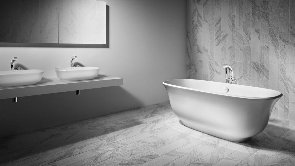 Łazienka z płytkami Cavalli